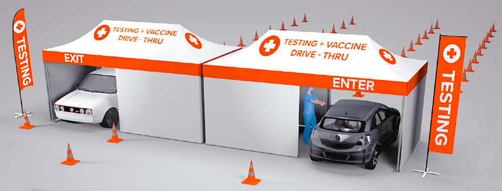 medical check tent